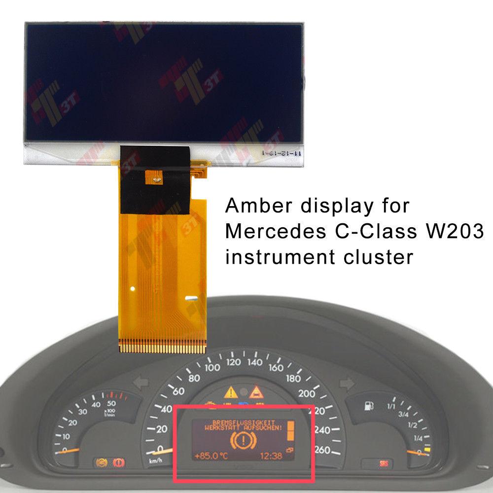 Para Mercedes Benz W203 Clúster de instrumentos Clase C tablero ámbar pantalla LCD 2000 ~ 2004