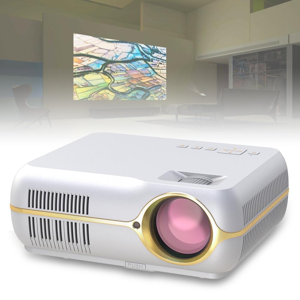 DH-A10B LED HD فيديو بروجكتور 4200 لومينز 1080P الرئيسية سينما العارض مع ستيريو المحيطي قرون ل 150 بوصة شاشة الإسقاط