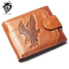 Nouveau porte-monnaie pas cher hommes aigle gaufrage portefeuille en cuir véritable porte-monnaie pour hommes porte-carte fort portefeuille