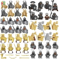 disney middle ages soldier building blocks mini action figures bricks history educational toys for children christmas gifts