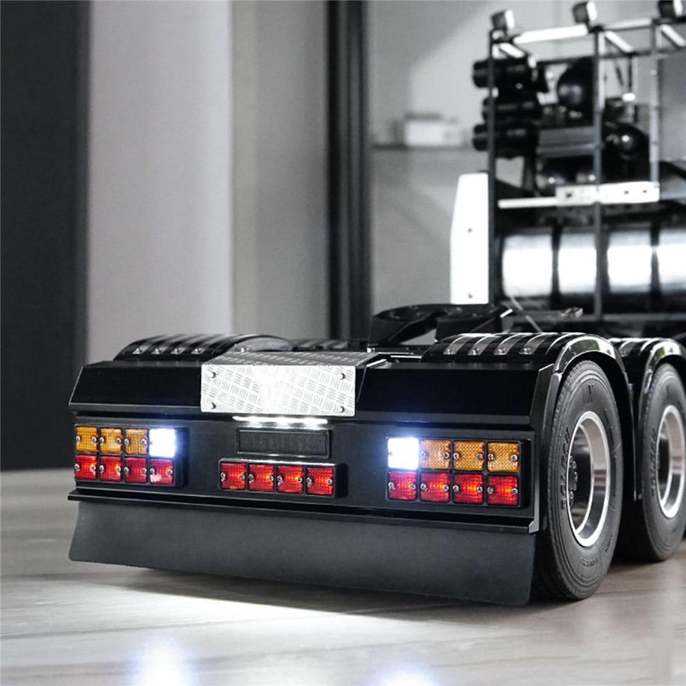 ل Scania R620 R470 LED مربع مصباح إشارة الخلفية مجموعة ث/المصد الخلفي ل Tamiya جميع 1/14 رجل سكانيا Modified بها بنفسك تعديل قطع غيار السيارات