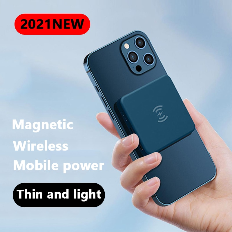 5000mAh Magnetic Wireless Power Bank Fast Charger For Magsafe mini powerbank For iphone12 12pro 12promax Magnet External Battery