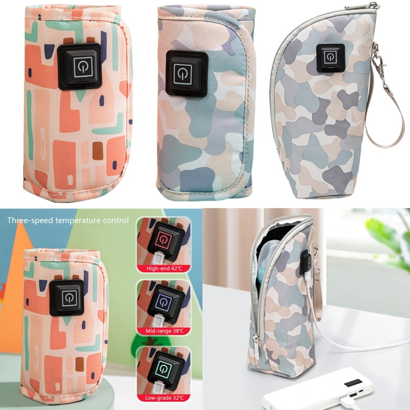 Portable USB Baby Bottle Warmer Hot Feeding Bottle Insulation Storage Bag Travel Milk Warmer Thermos Food Heater Thermal Bag 1l large capacity thermos nordic thermal insulation kettle household thermal insulation pot glass liner thermos hot water bottle