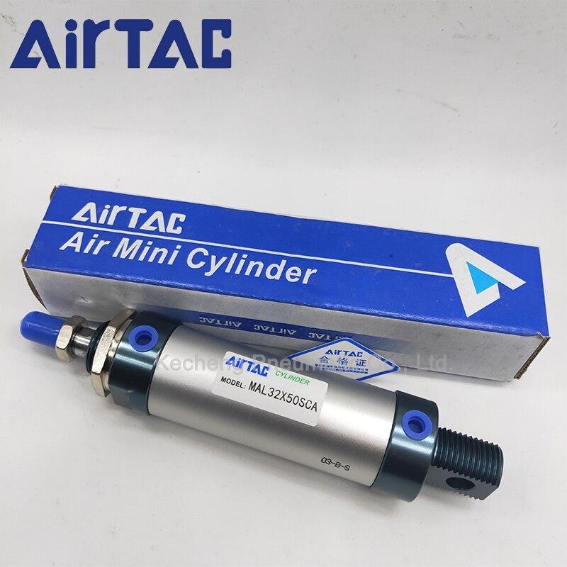 Airtac mal32x50u mal32x75u mal série mal32x50/75 u mini cilindro 32mm furo 50/75mm curso duplo atuando mal32 * 50/75 u