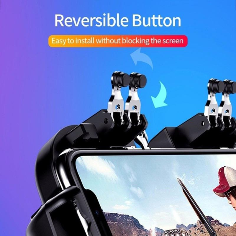 H9 Six Finger PUBG Game Controller Gamepad Trigger Shooting Gamepad Joystick For IOS Android Mobile Phone enlarge