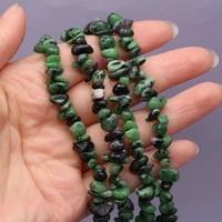 2021 natural semi precious stones red green treasure morgan beads 5 8 mm high quality diy necklace bracelet gift length 40 cm