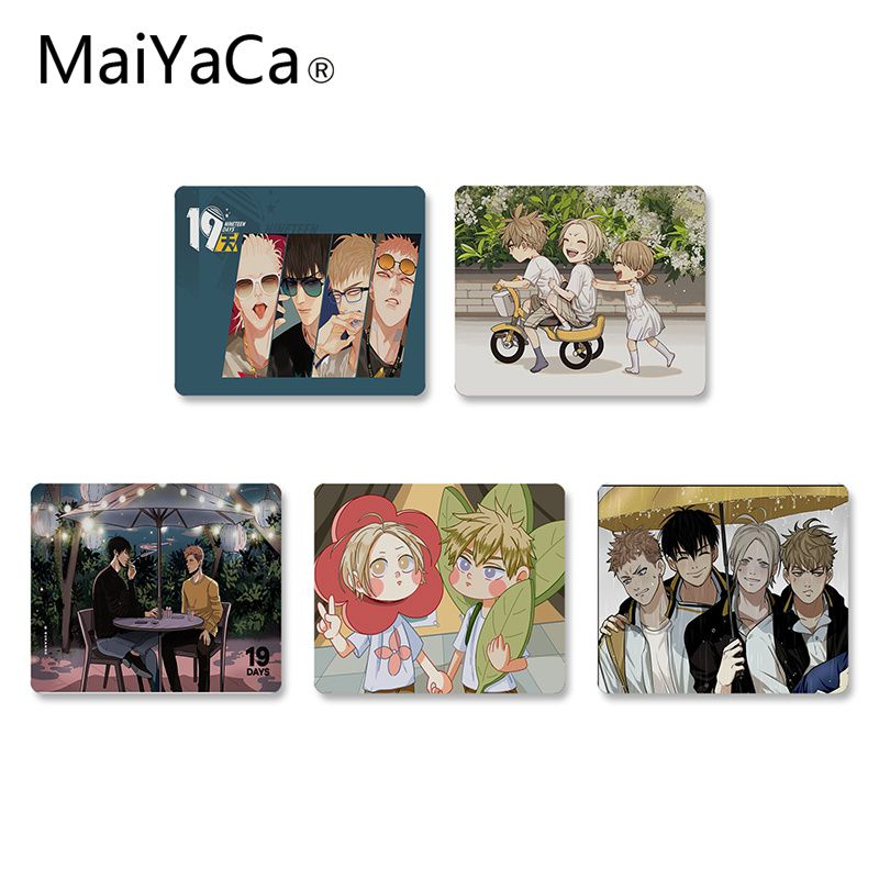 MaiYaCa Hot Sales 19 days anime Unique Desktop Pad Game Mousepad Rubber PC Computer Mousepad For PC Laptop Notebook