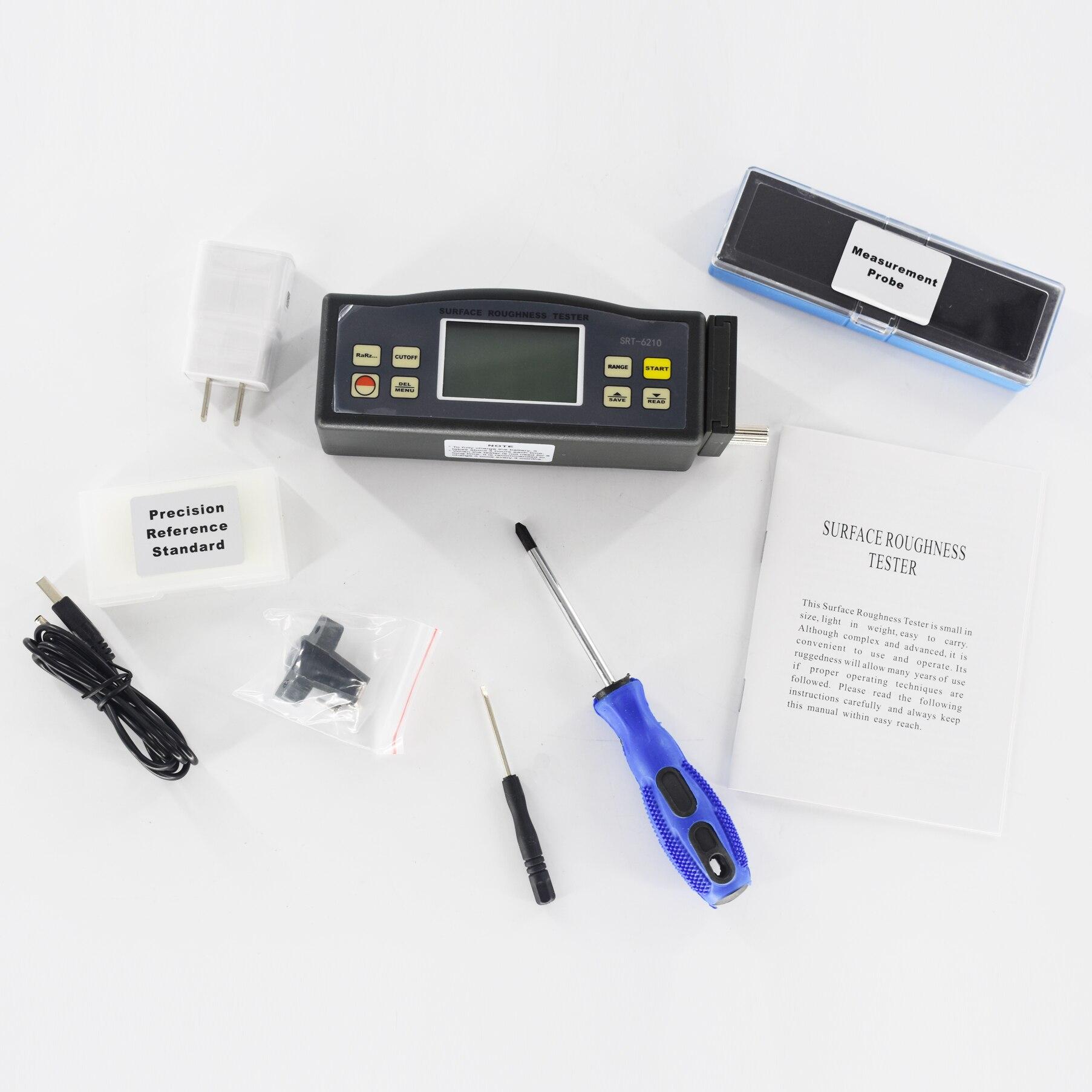 أداة قياس خشونة الأسطح SRT-6210 اختبار خشونة الرقمية المعلمات Ra ، Rq ، Rz ، Rt
