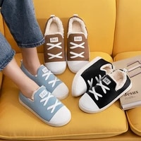 manwomen winter home warm cotton slippers couple bedroom flat with soft sneakers new woman cute fluffy shoes