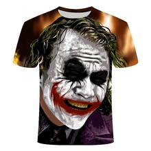 3d Clown T -Shirt Men Joker 3d Full Print Fashion Short Sleeves Tees Harajuku Hip -Hop Tshirt Summer