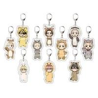 tokyo avengers keychain cosplay cute q version cartoon print acrylic key ring holder bag charm classic anime jewelry teens gift