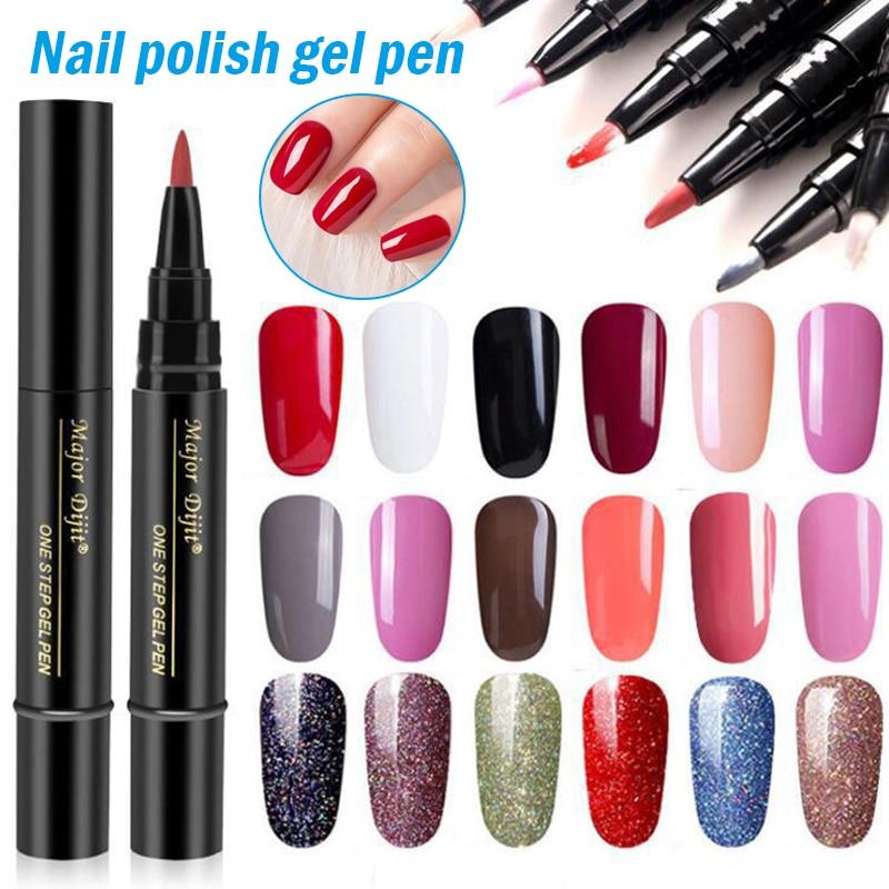 One Step Nail Polish Pen Nail Polish Pen 5ML Soak Off  LED Nail Varnish Nail Art Tools for Women Gir