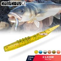 hunthouse rattlesnake xlayers soft lure with rattles lw231 115mm 5 3g pvc materal lerrue for fishing pike bass silicone lure