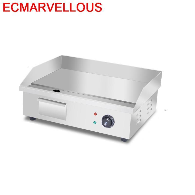 Griglia-miniparrilla eléctrica portátil para Barbacoa, Parrilla eléctrica para Kebab, Barbacoa, comercial, Teppanyaki