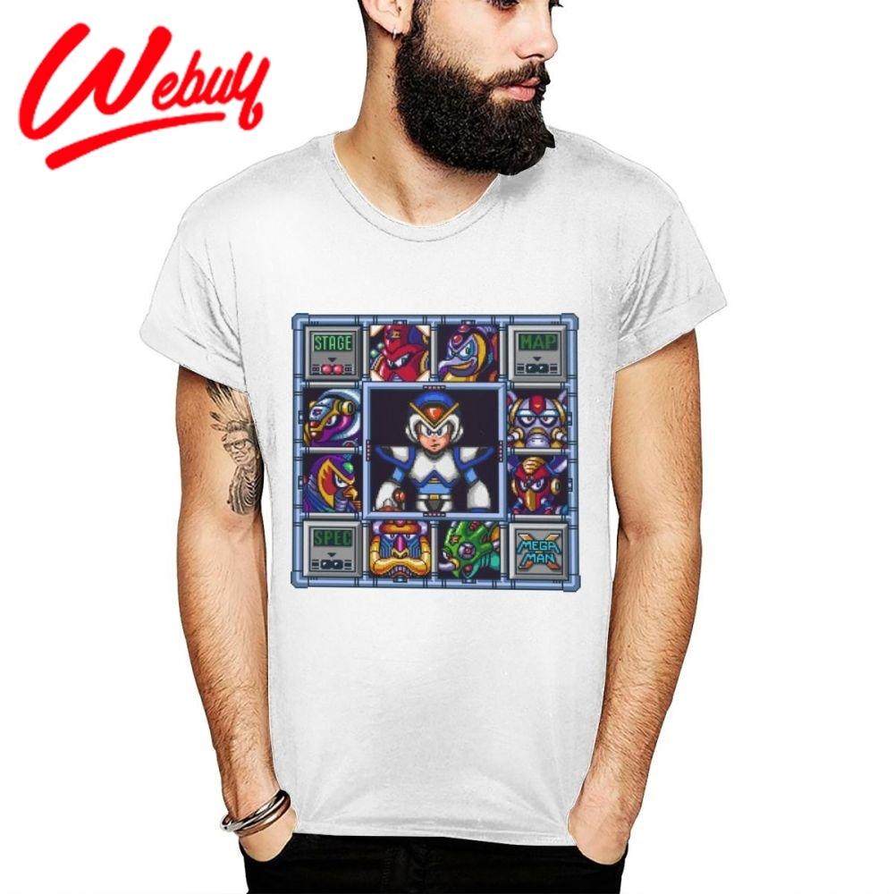 Camiseta de Megaman para hombre, Camisa de algodón puro suave de 16...