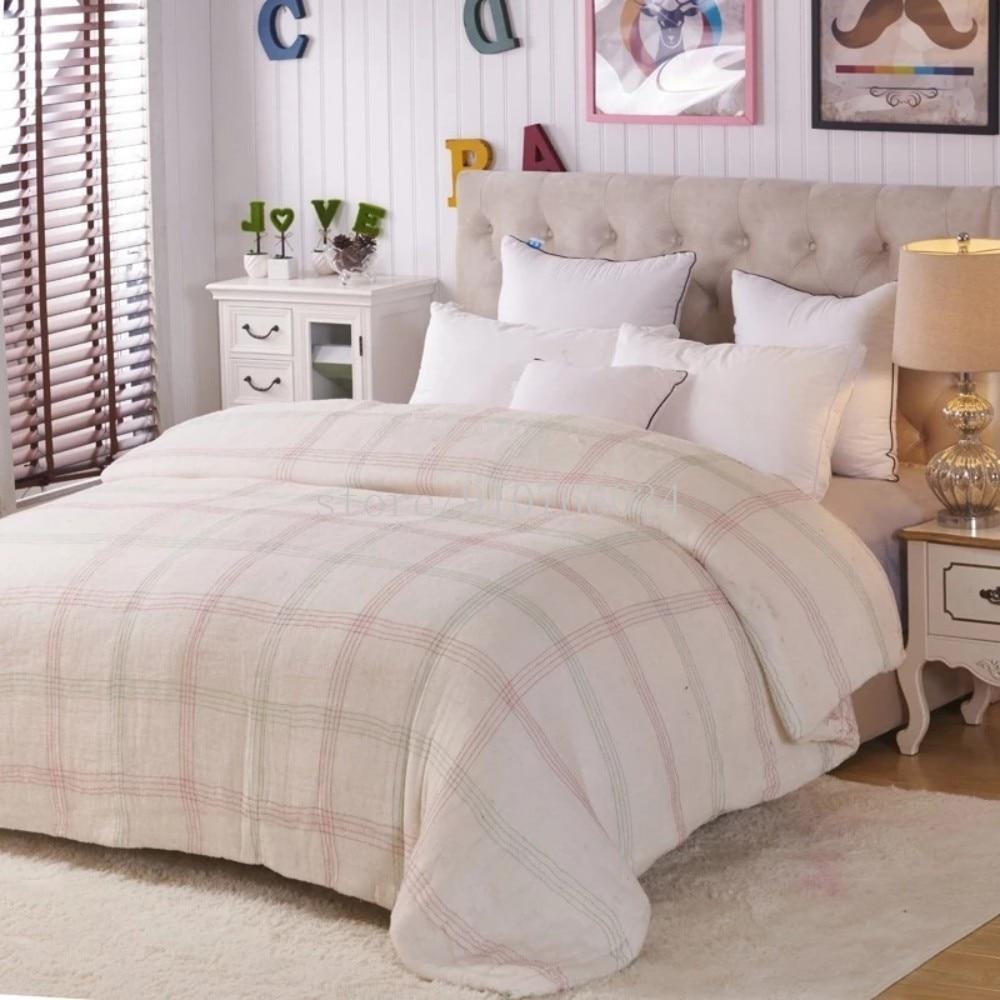 سميكة لحاف من القطن الشتاء الدافئة حاف إدراج مبطن السرير المعزي الملك الملكة كامل التوأم حجم السرير الأبيض بطانية لحاف المنسوجات المنزلية