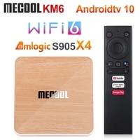 ТВ-приставка Mecool KM6 A TV Amlogic S905X4 Android 10 4 Гб 64 Гб Wifi 6 BT5.0 Google сертифицированная поддержка AV1 USB3.0 1000 м телеприставка