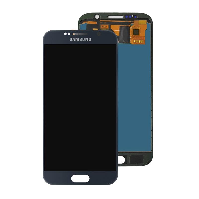 Repuesto de pantalla LCD BUYFROMME 5,1 TFT para Samsung Galaxy S6 G920 con montaje de digitalizador de pantalla táctil ajusta el brillo