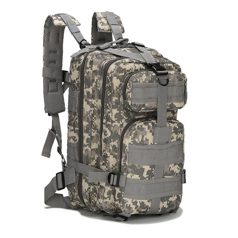 Paquete táctico para Fans militares de estilo popular fuera de la familia, mochila de camuflaje de nailon de 30l Oxford impermeable