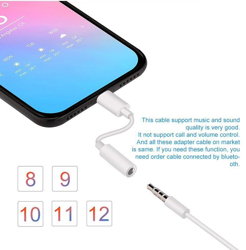 Adaptador de cargador para auriculares iPhone 7, 6, 8, 11X12, 12por max,...
