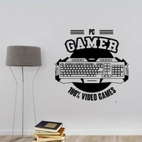 gamer wall decal video game room art computer gaming posters canada mural video game wall sticker