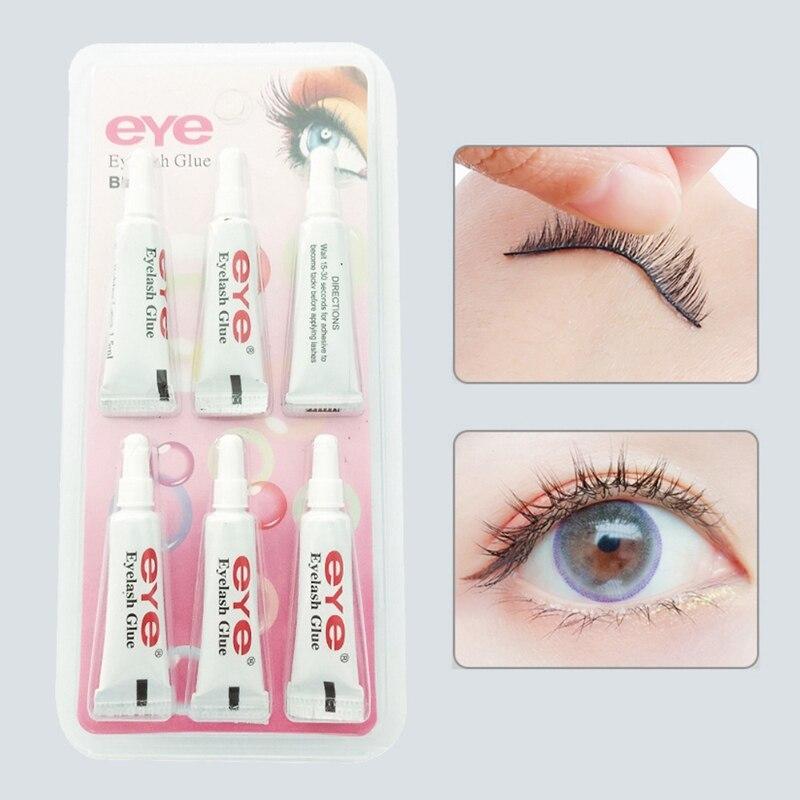 False Eyelash Makeup 6 Pcs Eyelash Glue False Eyelash Waterproof False Eyelashes Makeup Adhesive Eye Lash Glue# недорого