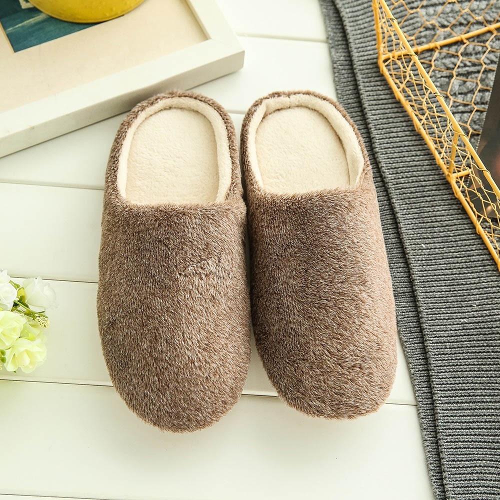 Zapatillas suaves De felpa para hombre, zapatos antideslizantes con piel para el...
