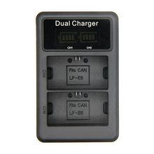Mamen LP-E6 شاحن بطارية LCD شاحن USB مزدوج لكانون EOS 5DS R 5D مارك الثاني مارك الثالث 6D 7D 60D 60Da 70D 80D DSLR