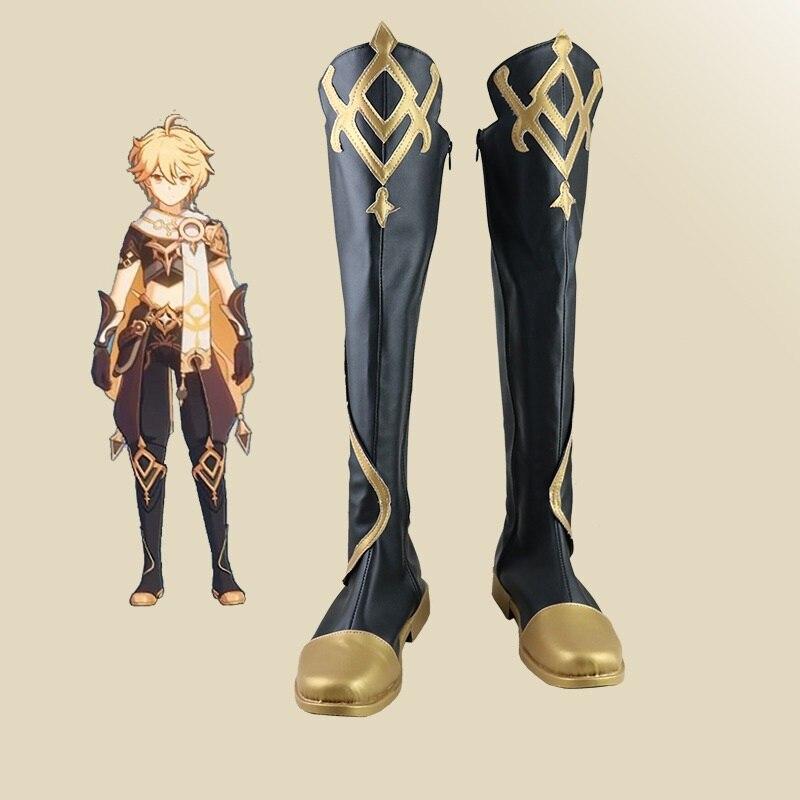 جديد للجنسين أنيمي كوس Aether تأثيري ازياء أحذية أحذية هالوين حفلة عيد الميلاد حجم مخصص