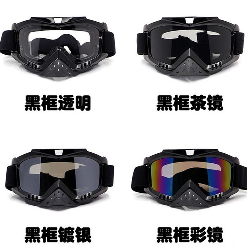Motorcycle off-road helmet goggles riding windproof goggles skiing glasses racing goggles, dazzling glasses enlarge