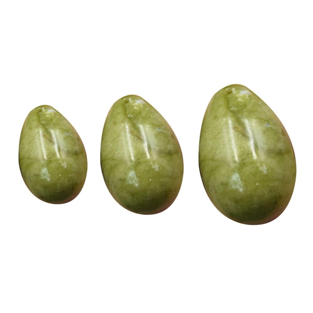 3 шт Jade Yoni набор яиц для массажа Кегеля нефритовые яйца подтяжки вагинальное Нефритовое яйцо тела массаж мышц Тренажер здоровь...