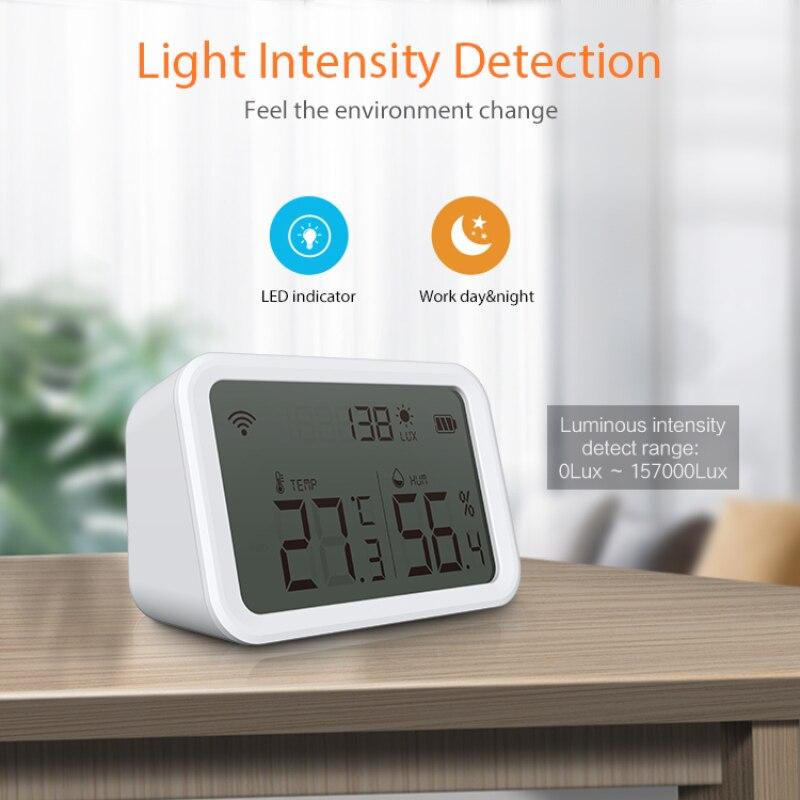 1/5 قطعة NEO Tuya الذكية درجة الحرارة والرطوبة الاستشعار داخلي الرطوبة ميزان الحرارة مع شاشة LCD دعم اليكسا جوجل APP