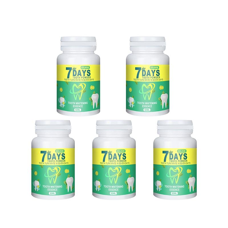 5PCS/SET Teeth Whitening Powder for Remove Smoke Coffee Tea Stains Freshen Bad Breath