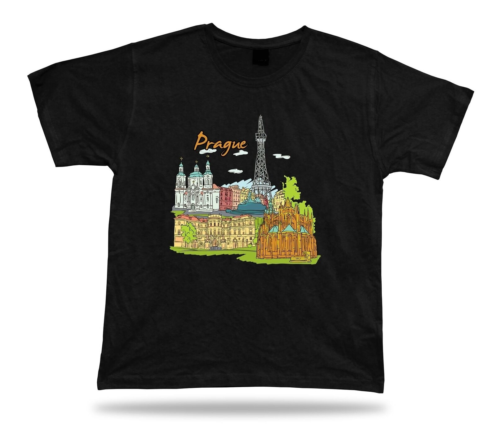Camisa torre de Torre Petrina Catedral San vitus Castillo de Praga Charles bridgeprague