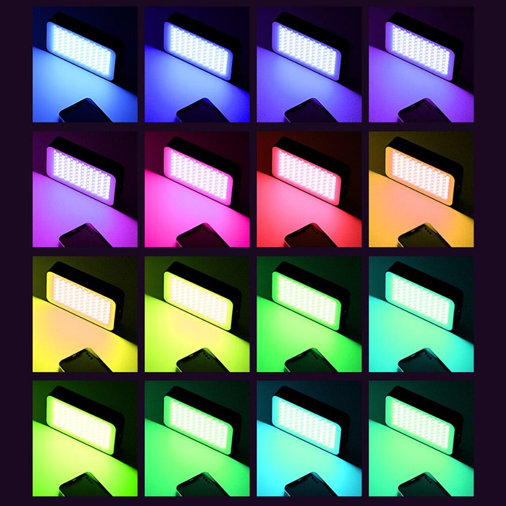 Portable full-color RGB fill light SLR camera photo live photography Vlog lighting set atmosphere light enlarge