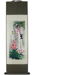 Orchid Flower Pattern Silk Painting Decoration Scroll Painting And The New Special Orchid Flower Flower Painting
