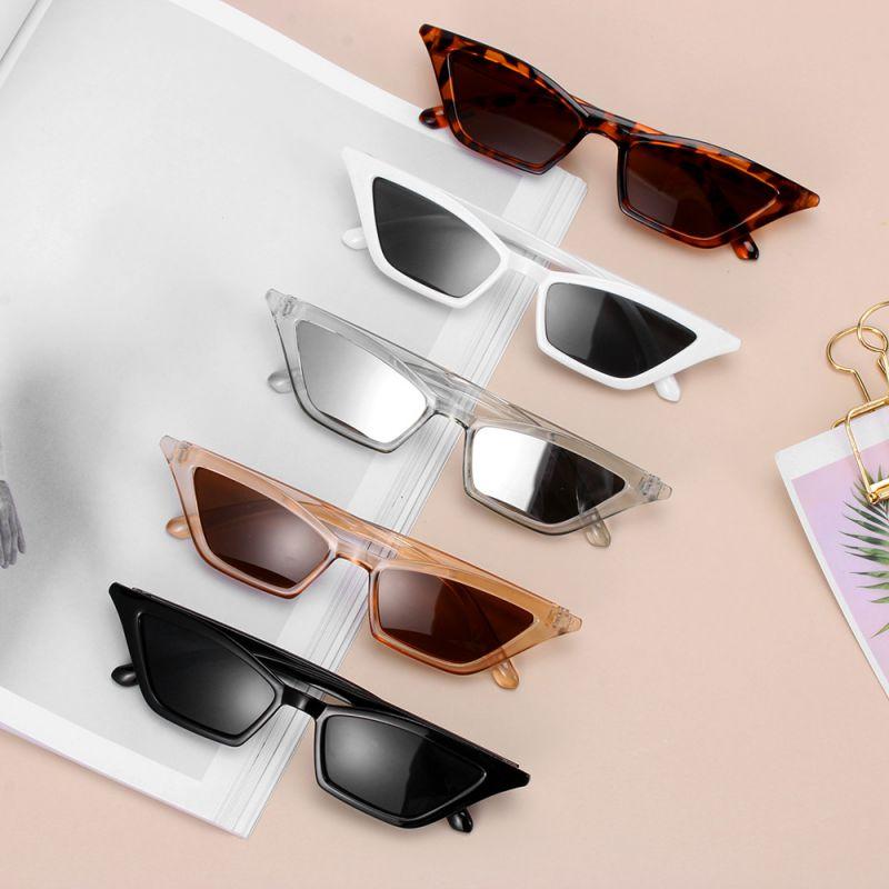 Fashion Women  Vintage Cat Eye Sunglasses  Small Frame UV400 Sun Shades Glasses Street Eyewear Luxur
