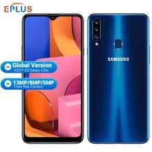 """Global Samsung Galaxy A20S A207F/Ds Mobiele Telefoon 3Gb Ram 32Gb Rom 4000Mah Snapdragon Octa Core 6.5 """"13MP Triple Camera 4G Telefoon"""
