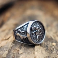 secret boy animal wolf ring punk style gothic party finger rings for men punk fasion jewelry gift for men