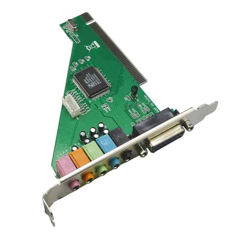 CMI8738 Чипсет стерео звук PCI Порты и разъёмы Аудио карты Sup Порты и разъёмы s 2/4CH и DLS с компакт диск с драйверами для настольных ПК компьютер