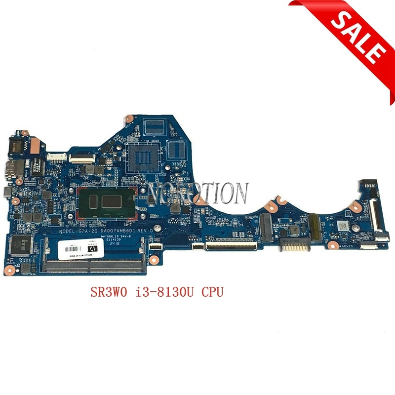 Nokotion L18503-601 L18503-001 ل HP جناح 14-CE 14-CE0597SA DA0G7AMB6D1 اللوحة المحمول SR3W0 i3-8130U وحدة المعالجة المركزية