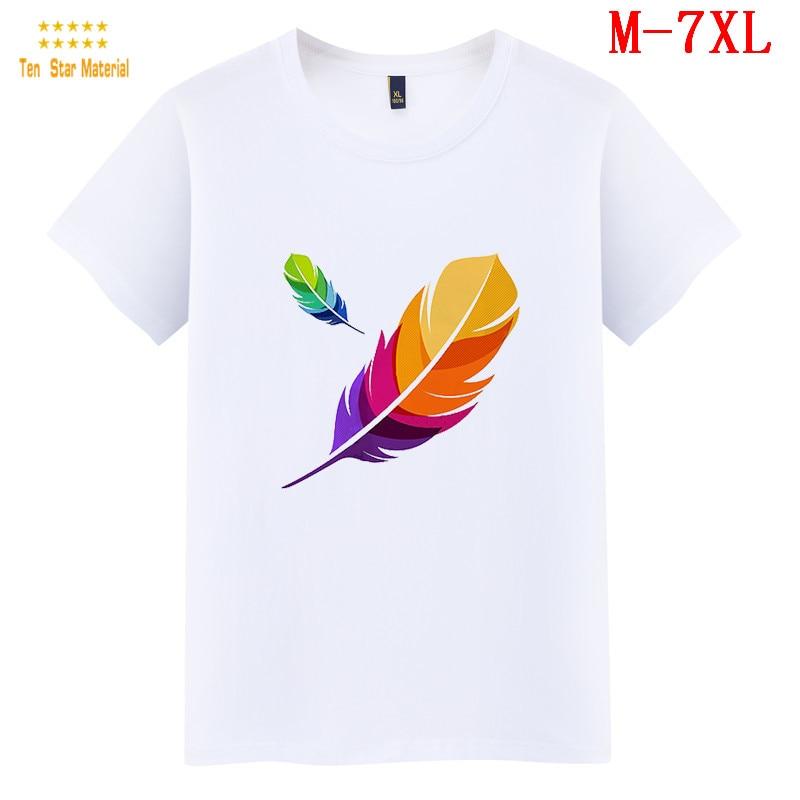 Camiseta Simple pluma abstracta para mujer de talla grande Harajuku Mandala atrapasueños camiseta de gran tamaño pluma colorida ulzzang 90s