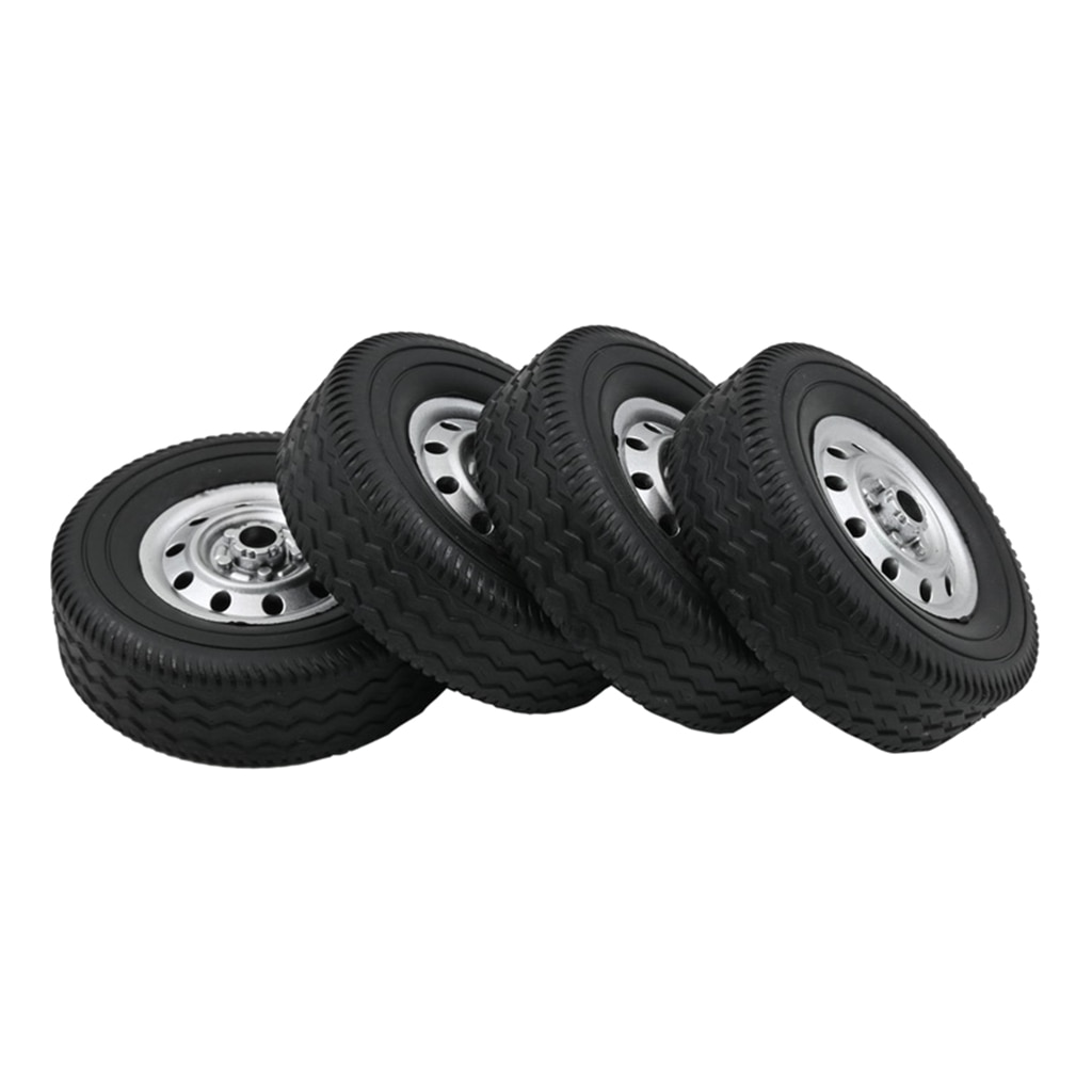 Simulation 1/10 RC Car Rubber Tires for WPL D12 Car Spare Accessory Black