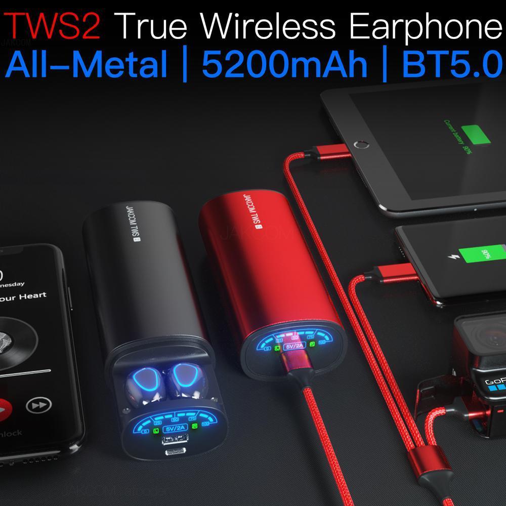 JAKCOM TWS2 True Wireless Earphone Power Bank Best gift with cover headphone wireless headphones power bank cuffie