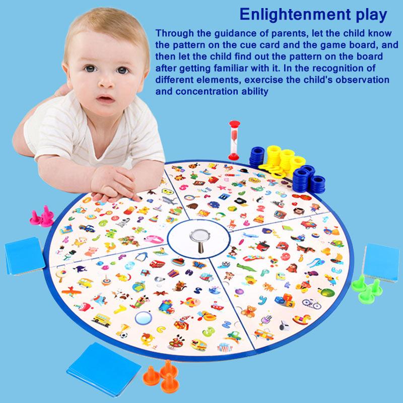 ألعاب ذكاء مونتيسوري التعليمية ، أحجية الصور المقطوعة ، لعبة لوحة استراتيجية ، بطاقات ، لعبة تعليمية ، هدية