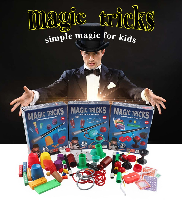 Magic Set Kit For Kids Science Toys for Children Classic Tricks Easy To Play Best Gift Boys Girls and Adult