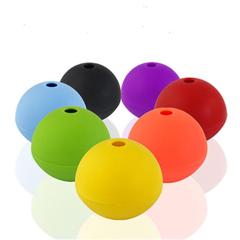 Esfera de fútbol bola de hielo de silicona ronda hielo molde para Hockey de hielo pelota para cubos de Hockey molde Whisky vino redonda bola de hielo fabricante de moldes