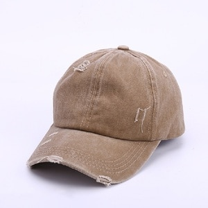 High Quality Adjustable Cotton Baseball Hat with Ring Outdoor Sports Sun Cap for Women Men Fashion Snapback Hat