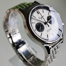 Panda Watches Mens 2021 Chronograph Pilot Watch Seagull 1963 st1901 Movement Metal Band Sapphire Wat