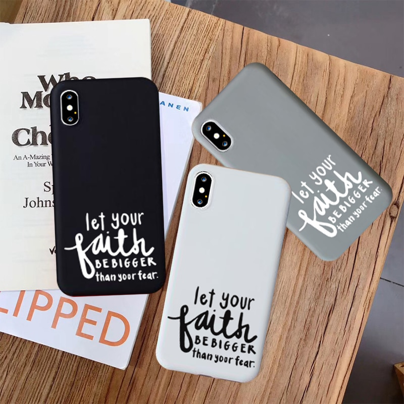 JAMULAR fe cristiana religioso Jesús funda ajustada para iPhone 11 Pro XS MAX XR X 7 8 6 11 Plus negro blanco funda de teléfono suave bolsa